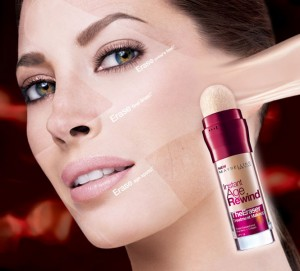 Makeup Review Maybelline instant-age-rewind-eraser foundation model-shot Christy Turlington