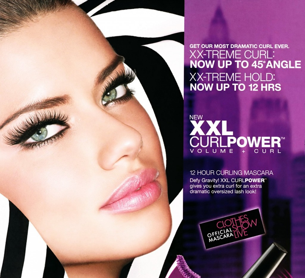 Maybelline XXL Curl Power Volume Length Mascara Adriana Lima