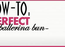 Hairstyle How-To: Create The Perfect Ballerina Bun