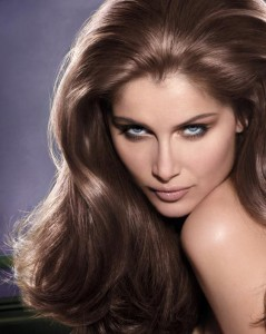 Laetitia Casta perfect shiny hair