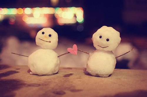 Merry Christmas Adorable Snowmen