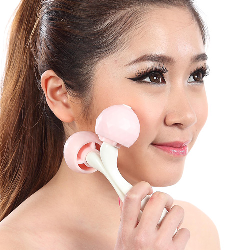 Double-mini-roller-ball-Face massager weird Asian beauty