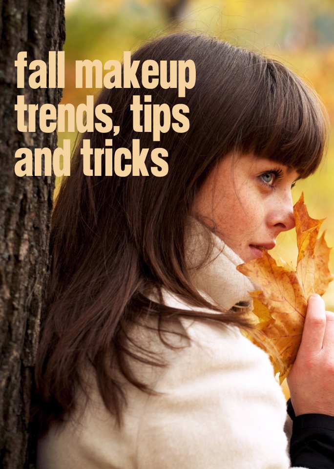 Fall Makeup Trends Tips and Tricks Woman With Leaf