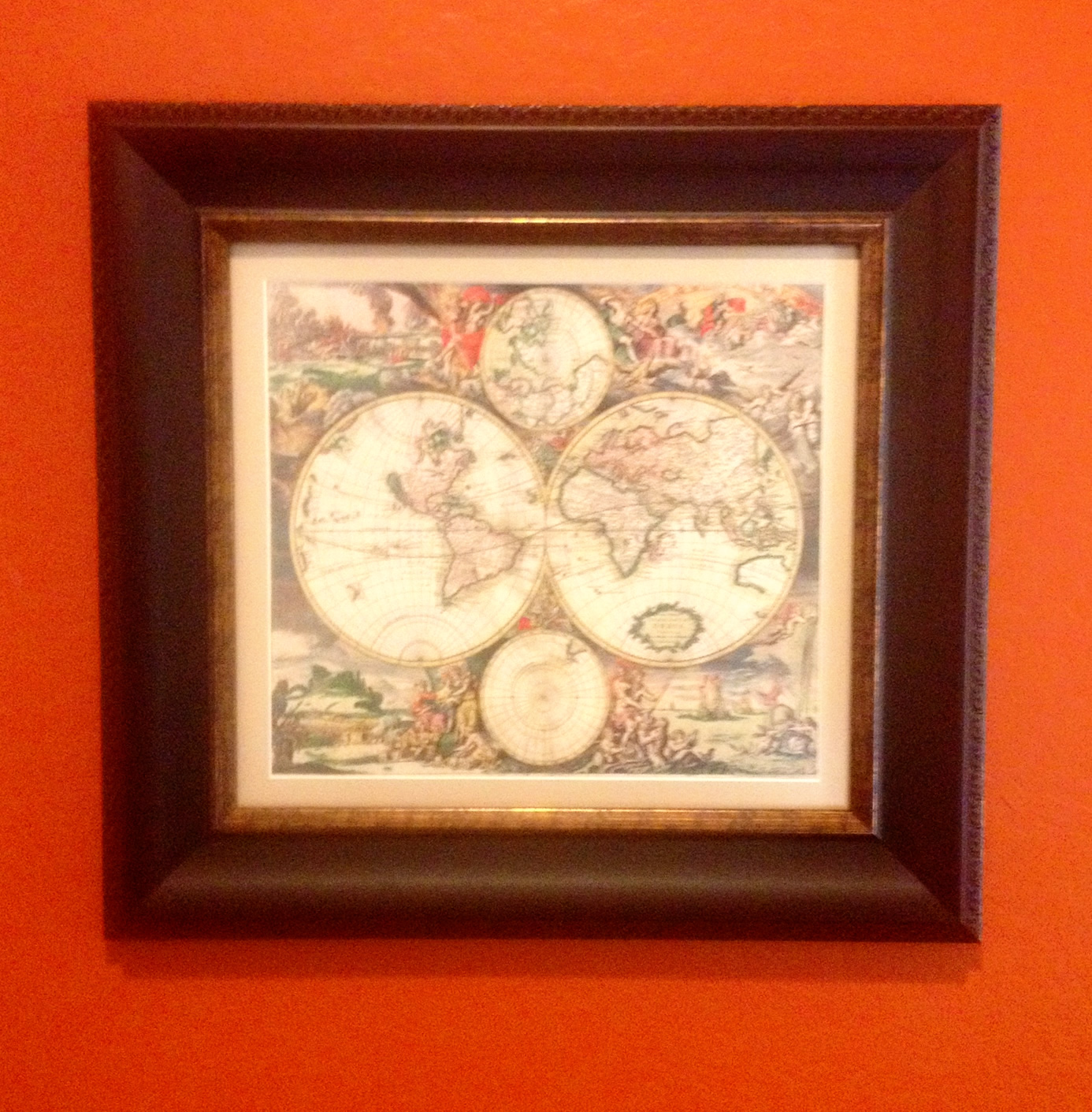 Old World Map Wall Art