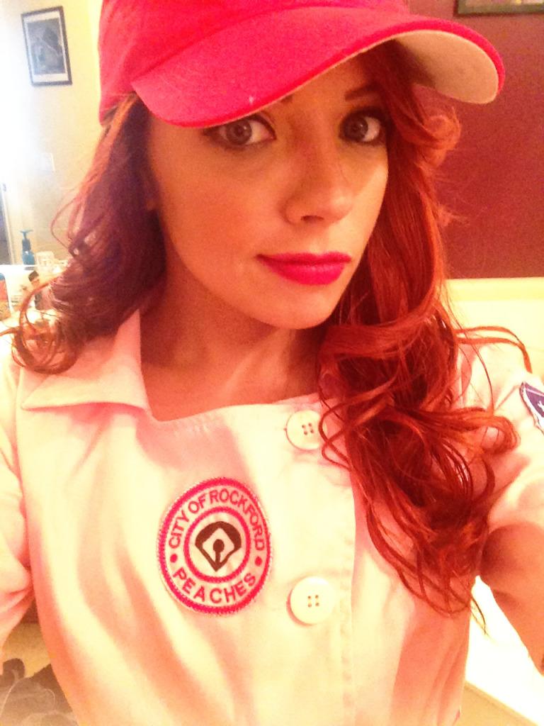 Cailin as Dottie Hinson A League of Their Own Halloween Makeup and Old Hollywood Redhead Hair