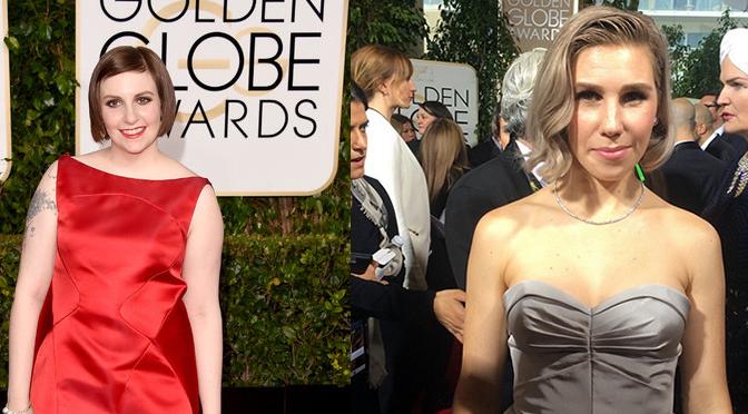 'Girls' Stars On The 2015 Golden Globes Red Carpet