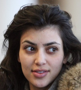 Kim Kardashian without makeup 1