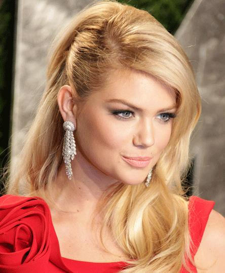 side cornrow hairstyles : Side Comb Hairstyle Women side comb kate upton wavy downdo hairstyle ...