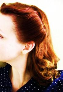 Side Comb Rockabilly Redhead