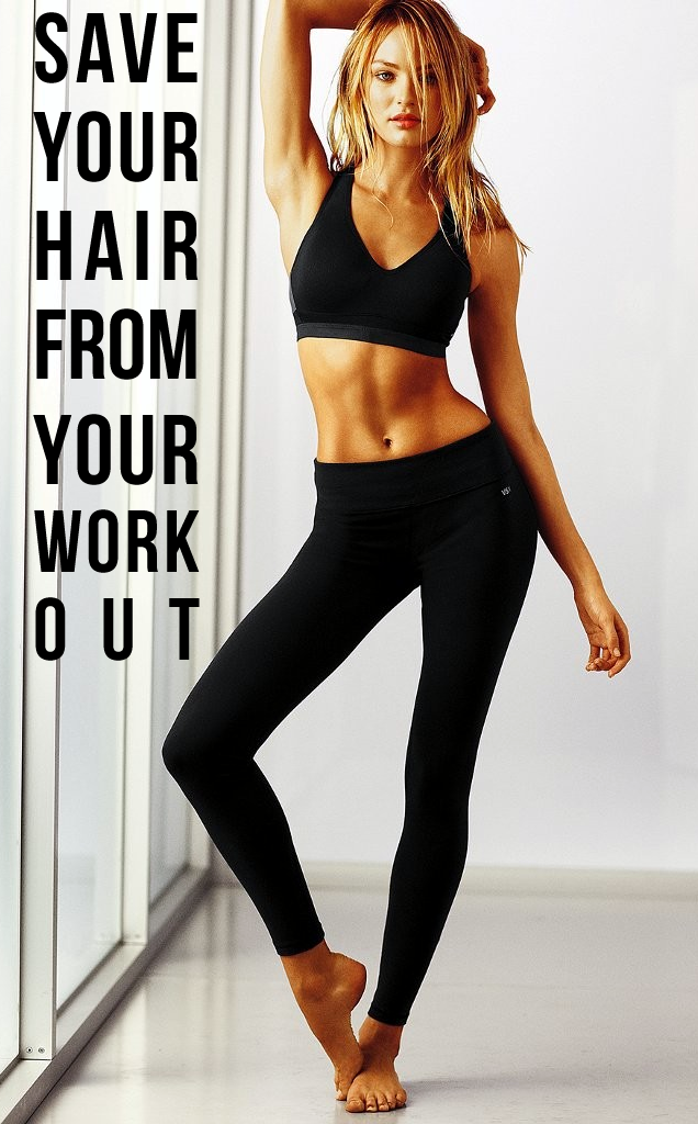 Keep Hair From Getting Sweaty During Workout Candice Swanepoel