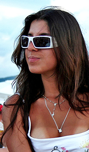 Beach Wave Hairstyle with Tank And White Sunglasses