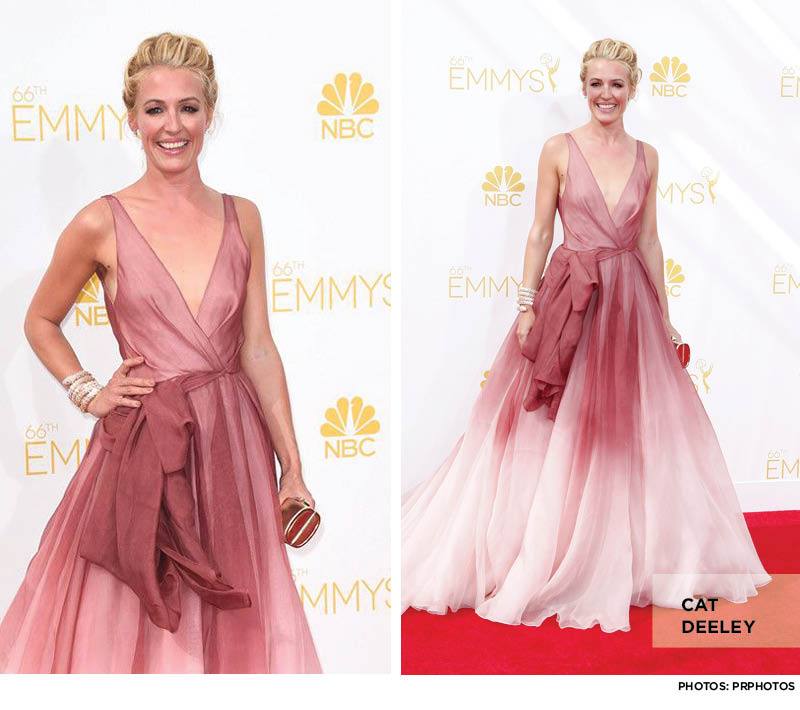 Cat-Deeley Emmys Ombre Pink Gown Dress