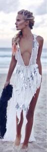 Mermaid Dress Braid Colored Ends Beautiful Wistful
