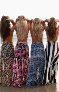 Mermaid Maxi Skirts on the Beach