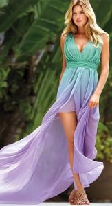 Ombre Aqua Violet Mermaid Hi-Lo Victoria's Secret