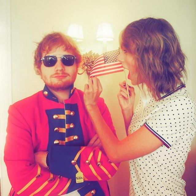 Taylor Swift Fourth of July Instagram Pics Ed Sheeran