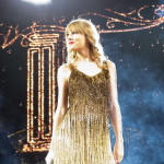 Taylor Swift Gold Ombre Fringe Dress Speak Now Tour