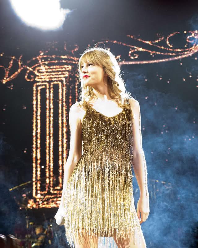 Taylor Swift Gold Ombre Fringe Dress Speak Now Tour