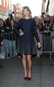 Taylor Swift at BBC Radio 1 Studios Ombre Dress