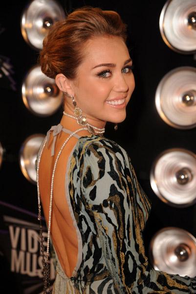 Miley Cyrus MTV VMA Awards 2011 Roberto Cavalli Backless