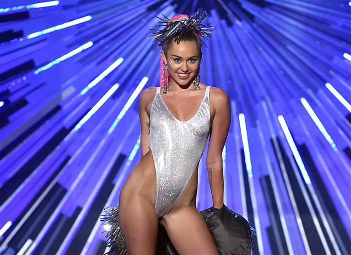 Miley Cyrus MTV VMA Awards 2015 Clash of the Titans Leotard