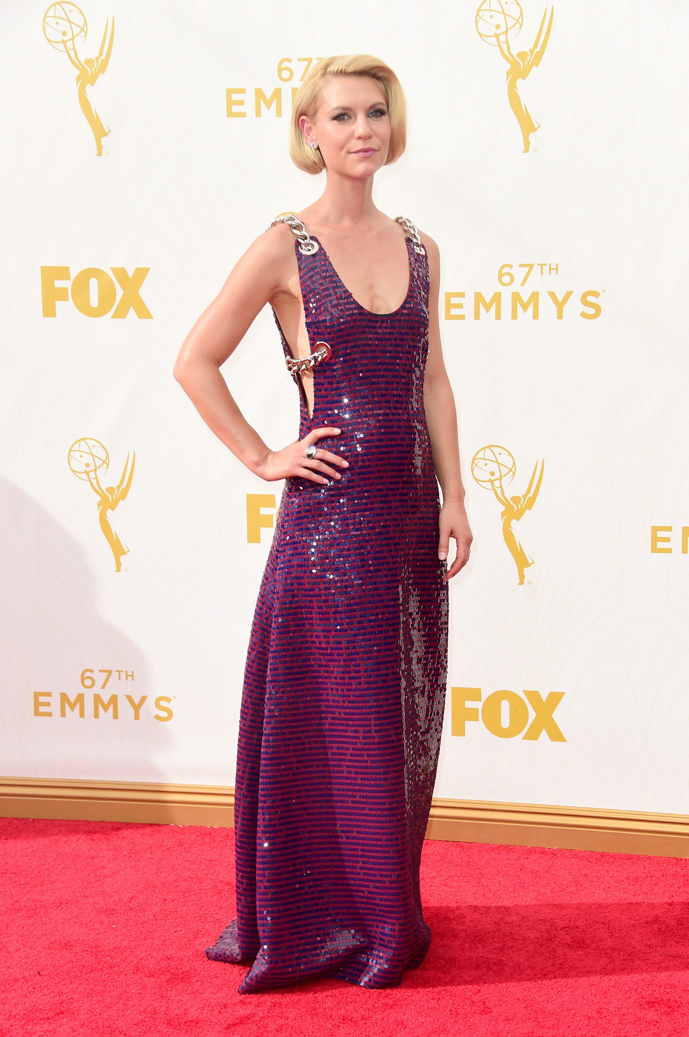 67th Annual Primetime Emmy Awards - Arrivals Claire Danes in Prada