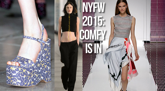The Ultimate Fashion Week Trend: Being Comfy. #BringComfyBack