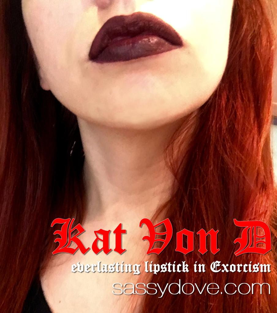 Kat Von D Everlasting Lipstick Exorcism Swatch 2
