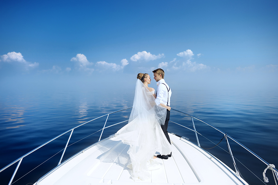 Yacht boat wedding