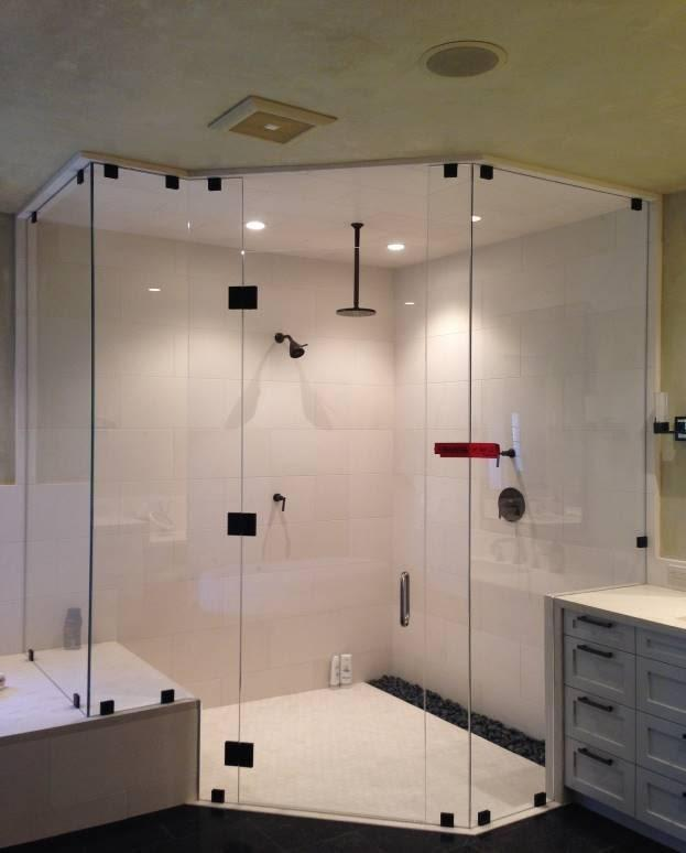 glass shower panel
