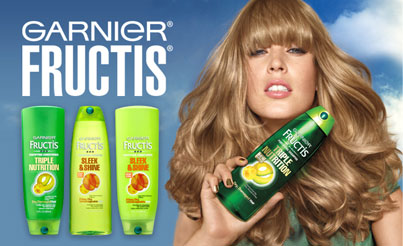 Hair Product Review Garnier Fructis Sleek and Shine Leave-in Serum Ad