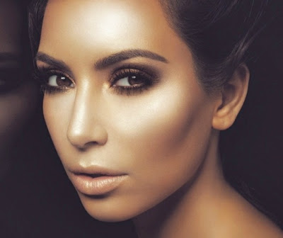 How To Highlight Contour Your Face with Makeup Bronze kim-kardashian-contoured-face