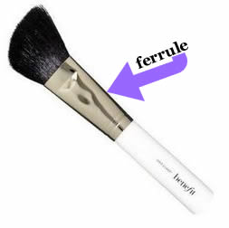 Beauty Defined Ferrule BeneFit slant powder brush