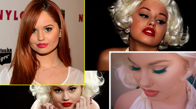 Debby Ryan's Halloween Makeup: Marilyn Monroe
