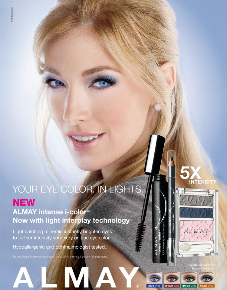 Makeup Review Almay Intense I-Color Mascara Blonde Model Blue Makeup