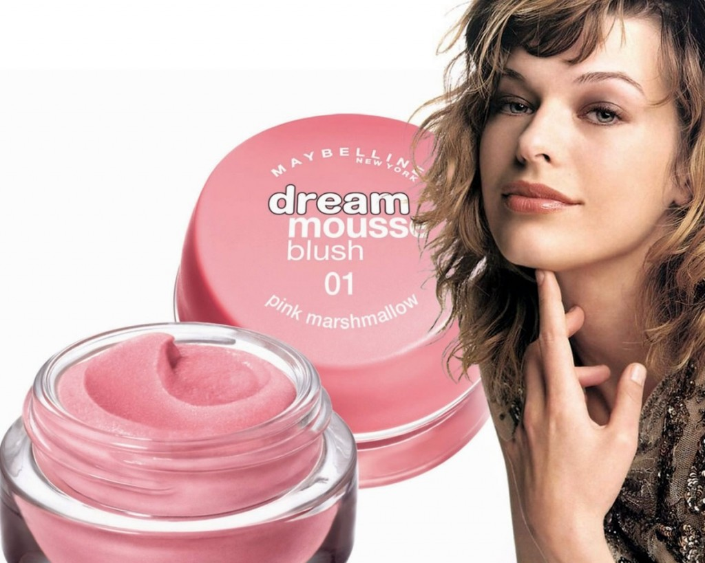 Makeup Review Maybelline Dream Mousse Cream Blush Milla Jovovich