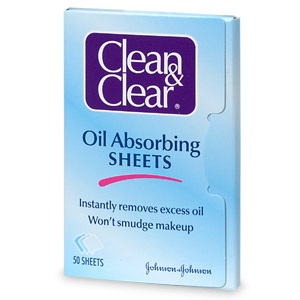 clean and clear blotting sheets oil control