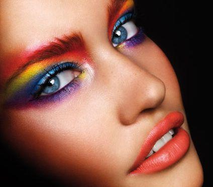 Eye Makeup Inspiration - Multicolored Rainbow Eyeshadow