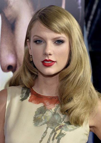 Taylor Swift with Sideswept Bangs
