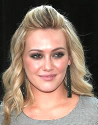 hilary duff poof hair style prom