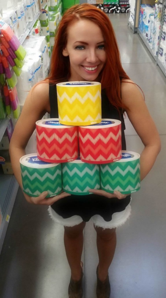 Cailin Poses With Kleenex