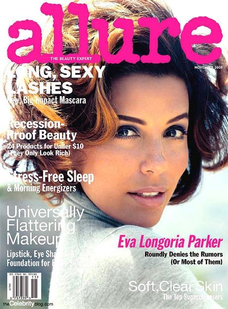 eva-longoria-allure-magazine hair and makeup