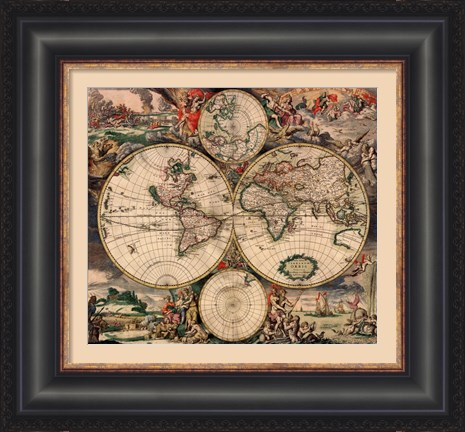 world-map-1689-framed-art-print