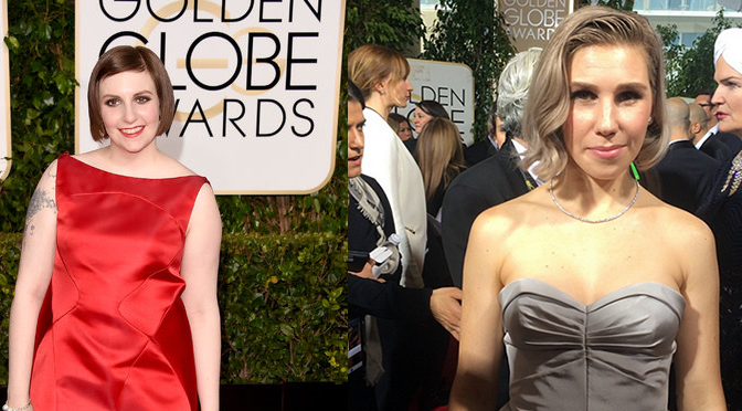 'Girls' Stars On The 2015 Golden Globes Red Carpet