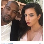 Kim Kardashian Instagram with Kanye West Makeup