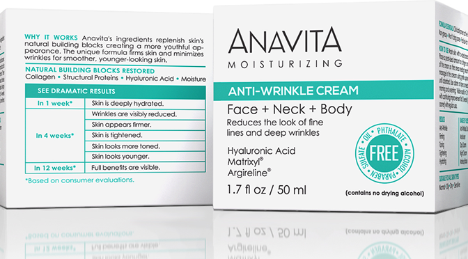 Anavita Moisturizing Anti-Wrinkle Cream Review + GIVEAWAY