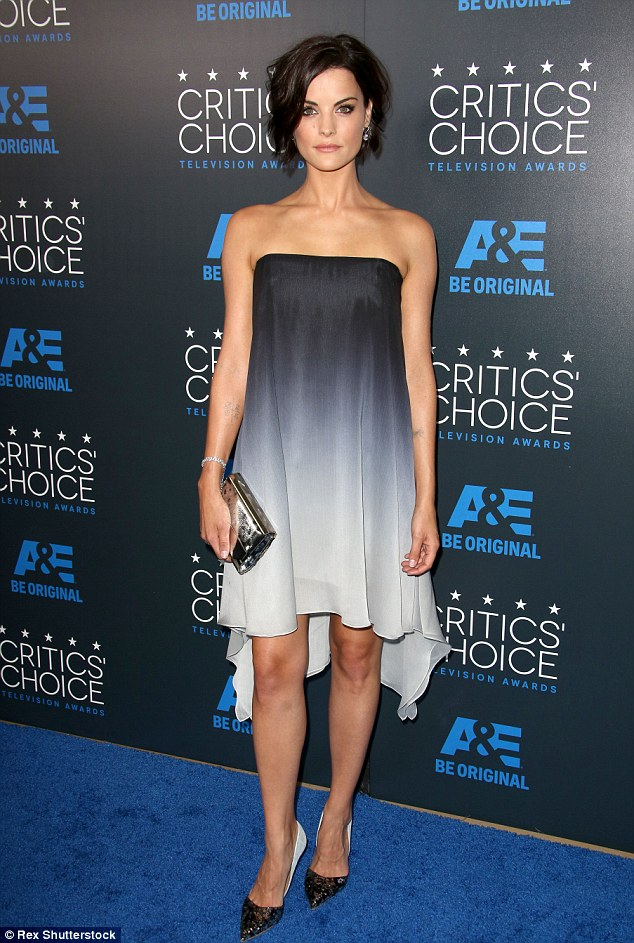 Jaimie Alexander in Halston Heritage Ombre Dress at Critics Choice Awards
