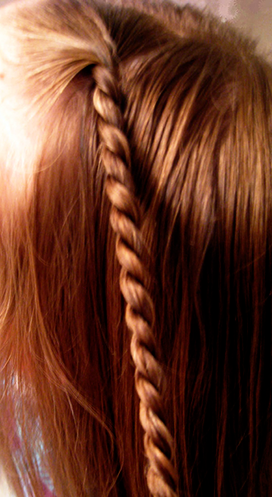rope twisted hair