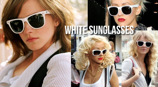 The Best Summer 2015 Hairstyle? White Sunglasses.