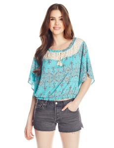 A peasant top like this one is excellent at hiding bloating.